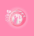 ill of love and valentine day heart and balloon vector image