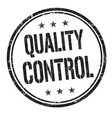 quality control grunge rubber stamp vector image
