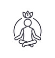 relaxation meditationmindfulnessconcentration vector image