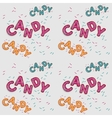 Seamless candy 3d letters vector image