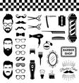 Set of vintage barber shop items vector image