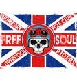 tee skull motorcycle graphic design vector image
