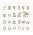 Thin line ecological icons set Icons for vector image