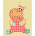 Hippopotamus patchwork vector image vector image