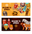 African Ethnic Tribal Masks Banners vector image