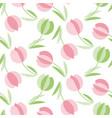decorative tulip flower seamless pattern geometric vector image