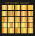 golden gradients collection background gold metal vector image