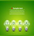 idea light bulb on the background vector image