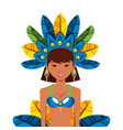 brazilian dancer icon vector image