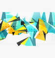 3d triangles geometric vector image