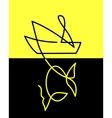 Symbol fishing vector image vector image