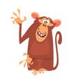 cute cartoon monkey character vector image