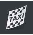 Monochrome taxi sticker vector image