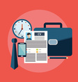 CV job search items flat modern design vector image