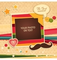 Birthday photo frame vector image