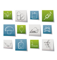 different kind of drug icons vector image vector image