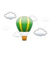 Bright Hot Air Balloon flying in the sky vector image