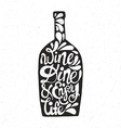 Bottle Shaped Quote vector image