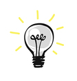 Hand drawn light bulb vector image