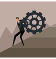 man climbing gear growth business design vector image