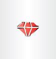 red diamond symbol icon vector image
