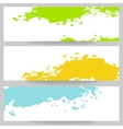 Set of banners with paint splash vector image