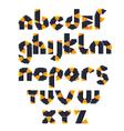 1 alphabet mosaic vector image