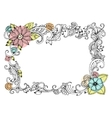 Floral frame for your design vector image vector image