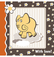 Card with love elephant vector image