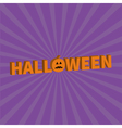 Halloween Lettering 3D text banner with sad orange vector image