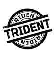 trident rubber stamp vector image vector image