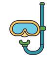 diving mask flat line  concept vector image
