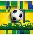 Football soccer crowd on an abstract background vector image