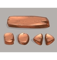 Cartoon wooden buttons set vector image vector image