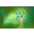 Ecology Infographic Environment Green Planet vector image