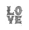 Love Typographic poster vector image