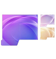 Folder cut-out template vector image