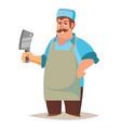 happy butcher standing butcher man with vector image