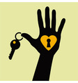 Heart key vector image