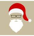 Santa hat mustache beard and glasses vector image