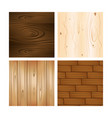 set of wooden textures backgrounds vector image