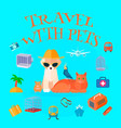 travel with pets background vector image