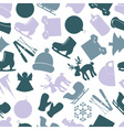 winter icons color pattern eps10 vector image