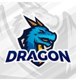 Dragon on shield sport mascot Football or vector image vector image