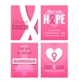 Breast Cancer Awareness Posters Set vector image