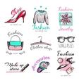 Fashion Goods Logo Set vector image