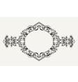 High Ornate Old Romb Frame vector image
