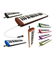 A Set of Musical Melodica on White Background vector image vector image