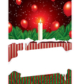 christmas background with copy space vector image