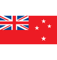 New Zealand Red Ensign vector image vector image